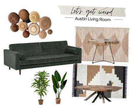 Keeping Austin weird since, well, the beginning! This living space is a modern boho style with plenty of natural finishes and ALL of the texture keeps things far from basic! Color usually isn't my thing but this dark jewel-toned sofa is to die for! Download the LIKEtoKNOW.it shopping app to shop this pic via screenshot. http://liketk.it/3hhbz #liketkit @liketoknow.it #LTKDay #LTKhome #LTKsalealert #austin #home #boho #furniture #decor #funky