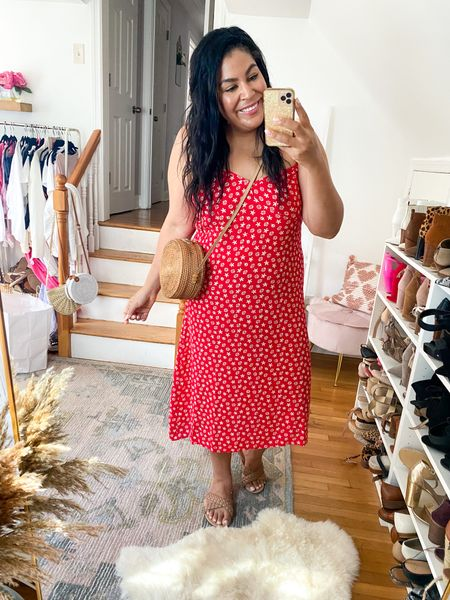 Walmart slip midi dress under $28! Wearing an XL #liketkit #LTKcurves #LTKunder50 #LTKstyletip   http://liketk.it/3hhTs  @liketoknow.it   Walmart fashion, Amazon fashion, amazon accessories, size 12, size 14, midsize, mid size, slip dress, midi dress, summer outfit, summer dress, lightweight dress, plus size