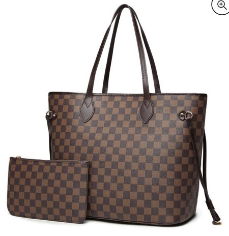 Here's a fab designer inspired tote bag!!! And it's under $50!!! + it comes in white too!! Great gift idea!   #LTKstyletip #LTKGiftGuide #LTKitbag