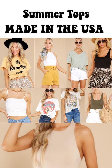 Summer tops made in the USA #madeintheusa http://liketk.it/3hO8Q #liketkit @liketoknow.it #LTKunder50 #LTKtravel #LTKstyletip