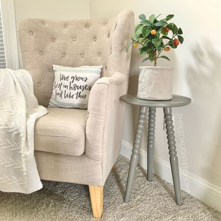 How cuuuute is this new side table?! I am obsessed! And would you believe it was only $35 AND shipped in 2 days!  #LTKhome #LTKunder50
