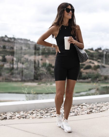 I'm wearing XS shorts, XS tank, M blazer, I'm just shy of 5'7 for reference- athleisure look, casual to dressed up, blazer look, summer looks, StylinbyAylin @liketoknow.it #liketkit http://liketk.it/3ifzH               #LTKstyletip #LTKunder100 #LTKfit