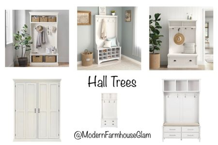 Hall Trees. Entryway organization. Shoe storage. Clothing rack, laundry room, mudroom, furniture, home decor. Modern Farmhouse Glam   #LTKHoliday #LTKhome #LTKSeasonal