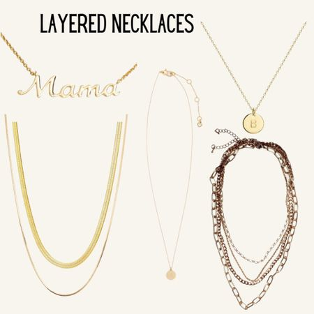 Layered necklaces http://liketk.it/3fr7e #liketkit @liketoknow.it #LTKunder100 #LTKunder50