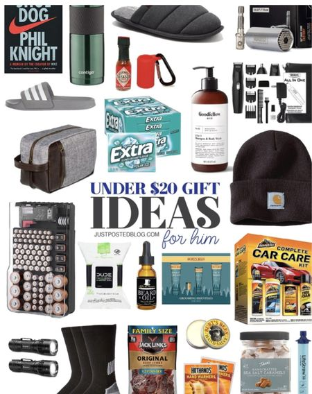 Christmas Gift ideas for Him all Under $20! Some of these would make perfect stocking stuffers!   Men  Christmas  Gift guide  Dads   #LTKmens #LTKHoliday #LTKunder50