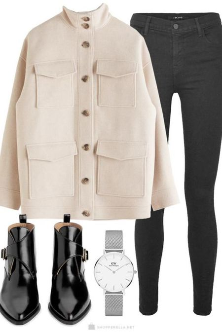 Black & neutral outfit styled with a silver watch and leather boots. http://liketk.it/35kiz #liketkit #LTKstyletip #LTKeurope @liketoknow.it