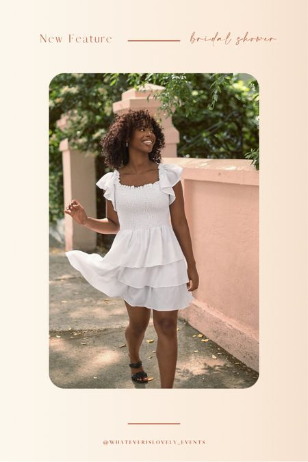 We are loving this dress from Express for all your bridal functions!   Think: summer dress, summer dresses, summer dress midi, summer dress outfit, summer dress white, white summer dress, white dress outfit, bridal shower dress, bridal dress, bridal luncheon dress, engagement party, engagement shower, bachelorette party, bride outfit, bride, wedding    #LTKstyletip #LTKunder100 #LTKwedding
