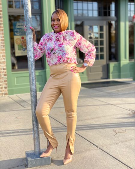 Faux Leather Pants http://liketk.it/32VNx #liketkit @liketoknow.it