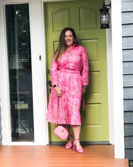 Ohhh!! I Special dress Alert! Lightweight! Pink snakeprint! It is a fabulous dress than can be worn in the business setting, and even special functions and it is also perfect for just date night! I might restyle it with a different belt and shoes!…… Please join my friends and I for #Fashionfriday!  @overfiftyandblessed @gwenliveswell @mymidlifestylist @jaxvegancouple @lynnettiu @robinlamonte @melaniespickett @gwenliveswell @joyousstyling  . . . . . .  http://liketk.it/3htjm #LTKworkwear #LTKwedding #LTKstyletip #liketkit @liketoknow.it.family @liketoknow.it Download the LIKEtoKNOW.it shopping app to shop this pic via screenshot