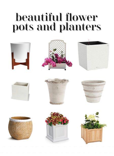 Flower pots and outdoor planters   #LTKhome #LTKunder100 #LTKunder50