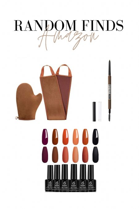 Random Amazon order. Needed a new tanning mit so ordered this bundle for under $8 that comes with the back tanner! Also needed a new brown pencil, this was about $5. Last, grabbed some new fall gel polish colors!   #LTKSeasonal #LTKstyletip #LTKunder100