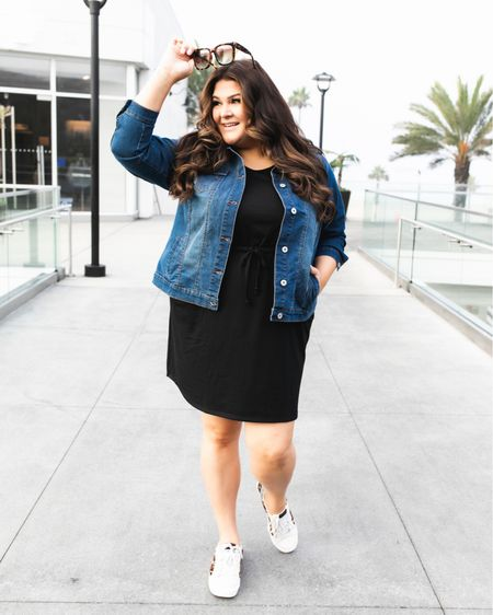 Jacket, dress and these amazing GG dupe sneakers are all $36 and under! I'll be sharing more ways to style them all soon too. Sizes are selling out quickly but you can easily shop this look by taking a screenshot and heading to the LTK app or by clicking on the link in my bio.  #walmartfashion #walmart #walmartfinds #affordablefashion #everydayoutfit #plussizefashion #plussizestyle #casualfashion @walmartfashion @walmart   #LTKshoecrush #LTKunder50 #LTKcurves