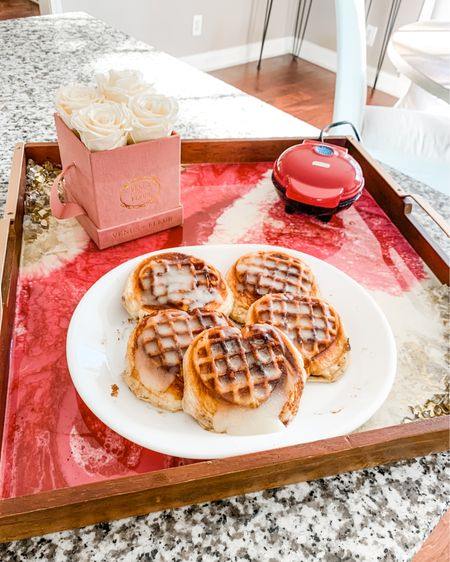❤️The sweetest little mini waffle maker is back in stock!! The heart shape is a year-round fave of mine but it is only available in stores during this LOVEly season!! The best part is it's $12!! We like pressing cinnamon rolls for a weekend brunch treat 😍 @liketoknow.it @liketoknow.it.home @liketoknow.it.family #liketkit #LTKhome #LTKVDay #LTKfamily http://liketk.it/37noI