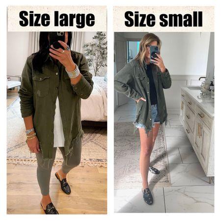 Same shirt jacket, two different body types. Use our code SPOILEDHOME15 for 15% off.   #LTKSale #LTKunder50 #LTKsalealert