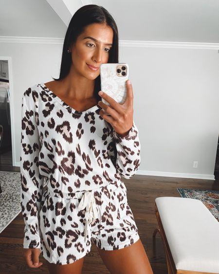 Leopard pajamas from Amazon fashion   #LTKunder50