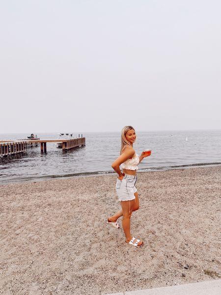 summer beach club outfit!  #LTKbeauty #LTKunder100 #LTKshoecrush