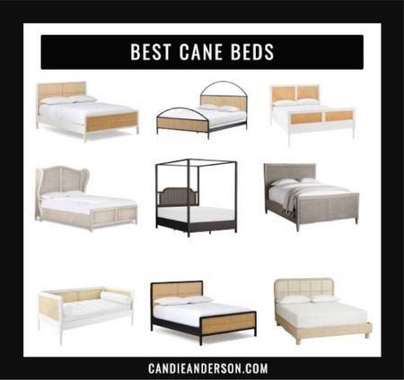 Best cane beds!! Best bedroom furniture for your master bedroom or guest bedroom. Some are on deep discount or ship for free at the Labor Day Weekend Sale!! ❤️❤️❤️  #LTKhome