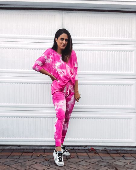 Between daylight savings and being in a candy coma today plus it's been gloomy and rainy here today was a big blur.  So today I lived in the cutest tie dye jogger set. I've been loving everything I've ordered from @shoptalulah. She is definitely worth a follow especially with all the fun items she sells. This set was under $50😉! Soo good. #shoptalulah http://liketk.it/2ZVgx #liketkit @liketoknow.it #StayHomeWithLTK #LTKunder50 #LTKstyletip