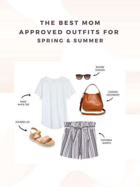 The best mom approve outfits for spring and summer. How to style paperbag shorts. http://liketk.it/2OxT9 #liketkit @liketoknow.it