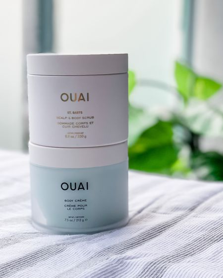 Summer faves from OUAI: scalp and body scrub and body cream. Smells like a summer vacation 🌴😎     Did you know OUAI also makes Pet shampoo now? Linked below 😉   #LTKbeauty #LTKtravel #liketkit @liketoknow.it http://liketk.it/3iE6l