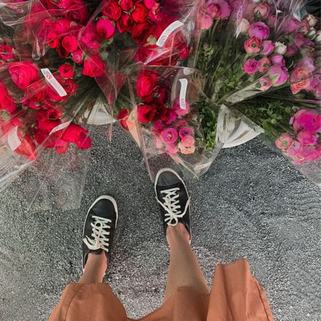 fleurs & sneaks.  + tagged one of my favorite faux sneaks from @oldnavy & grab them while they last! + on sale now!!! + the perfect little black sneak & so comfy. + shop direct here: http://liketk.it/3bXp1 #liketkit @liketoknow.it