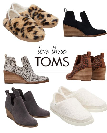 TOMS has some super cute shoes for the fall! I love these Kallie Wedge Booties and Ezra Slippers.  #LTKstyletip #LTKshoecrush #LTKSeasonal