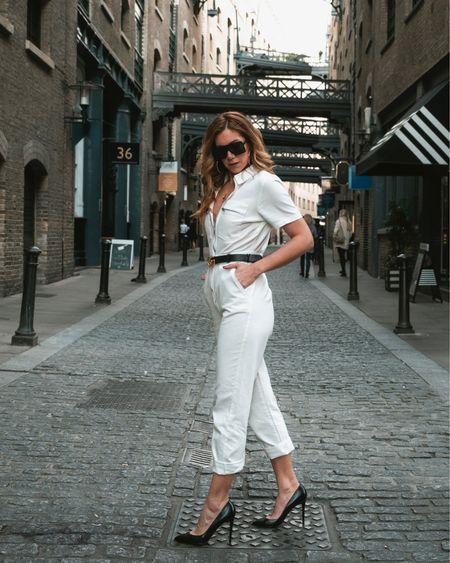Boilersuit / boiler suit in white denim for a casual but chic look! @liketoknow.it.europe @liketoknow.it #LTKcurves #LTKeurope #LTKworkwear http://liketk.it/2B4aX #liketkit