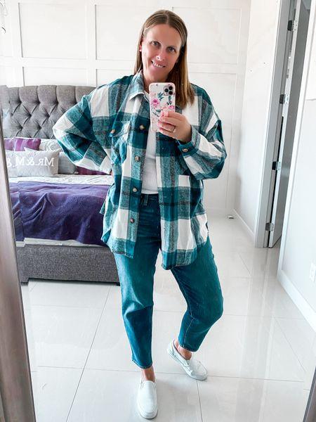 Fall shacket outfit  #shacket #falloutfit #affordablestyle  #LTKSeasonal #LTKsalealert #LTKstyletip