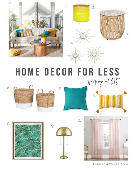 I recently learned that Walmart had so many fun home decor items to create or refresh a space so there was no better time than now to get going! I am gradually adding more and more items to my cart, but I've rounded up some of my favorite pieces from the website that will add a vibrant and carefree feeling to your home. 😎  http://liketk.it/3jcri   @liketoknow.it #liketkit