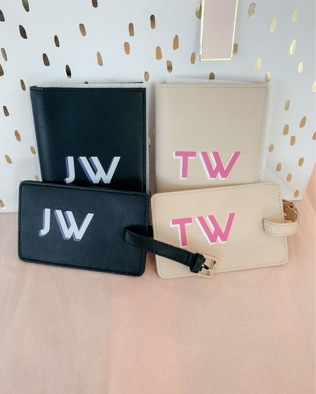 GIFT IDEA for the couple that loves to travel! ✨ Customize a passport holder & matching luggage tag for His & Her adventures!! ☀️ Also a cute way to incorporate the bride's new initials! 💕💕  Screenshot this pic to get shoppable product details with the @liketoknow.it shopping app: http://liketk.it/3jY7x #liketkit #LTKunder100 #LTKwedding #LTKtravel