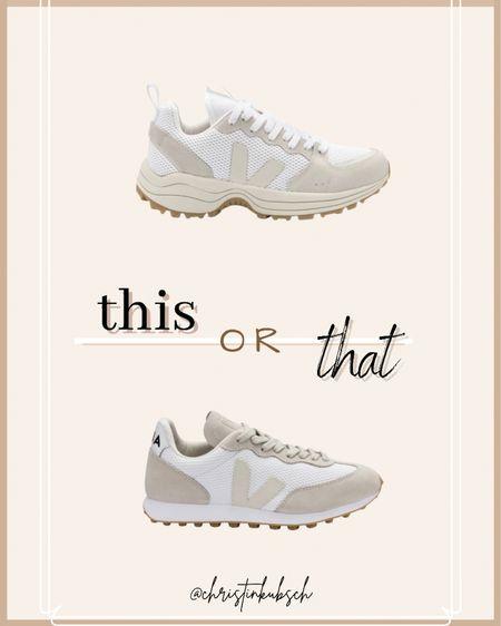This or that - which sneaker would you choose?  Veja  #LTKtravel #LTKSeasonal #LTKshoecrush