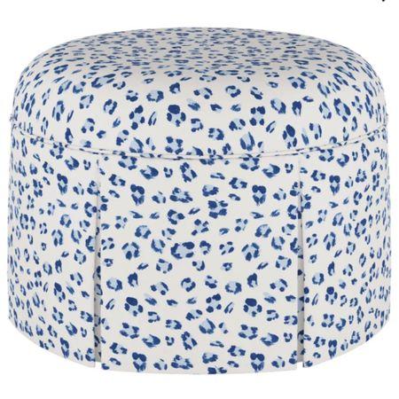 Blue and white leopard cocktail ottoman #LTKhome #LTKsalealert #LTKstyletip http://liketk.it/3fFPj @liketoknow.it #liketkit