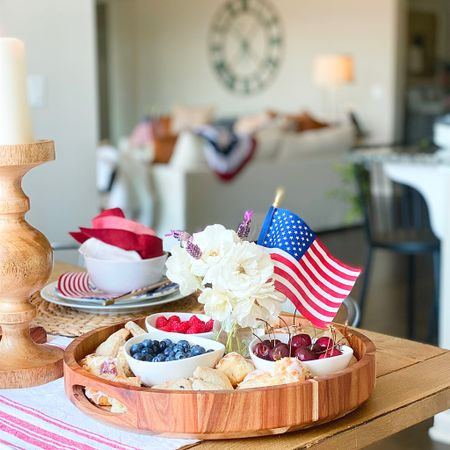 The simplest of foods displayed on a tray can add a major punch to any holiday soirée.  Fourth of July Weekend Decor and Entertaining.   #LTKhome #LTKfamily #LTKunder50 #liketkit #ltkseasonal @liketoknow.it @liketoknow.it.home http://liketk.it/3j0r9