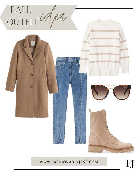 Fall outfit, winter outfit, combat boots, denim, sweaters, winter jacket   #LTKsalealert #LTKstyletip #LTKunder100