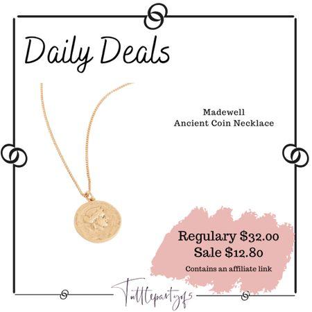 Madewell Ancient Coin Necklace   http://liketk.it/3igHg #liketkit @liketoknow.it #LTKsalealert #LTKstyletip #LTKunder50