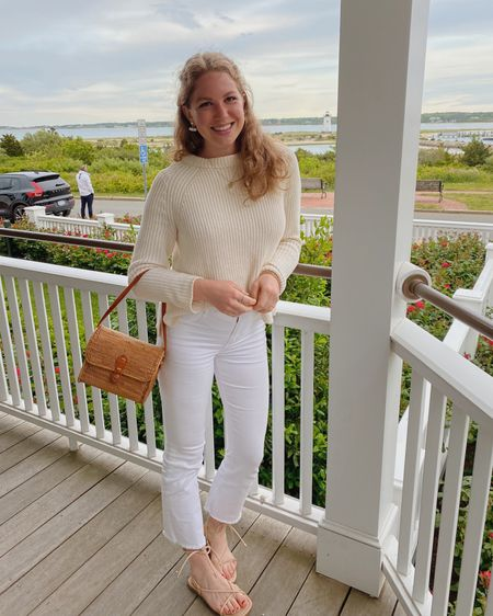 last night's look for drinks at the Harbor View 🐚 I think I've worn this outfit 100 times in my life... my fave jeans, fave sweater, go-to sandals.... 🤷🏼♀️ just so easy for summer!! linking similar options for everything on @liketoknow.it #liketkit http://liketk.it/3gJwq #LTKunder50 #LTKstyletip