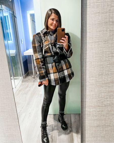 Belted Shacket x Faux Leather 🖤 http://liketk.it/35SIF #liketkit #LTKstyletip @liketoknow.it