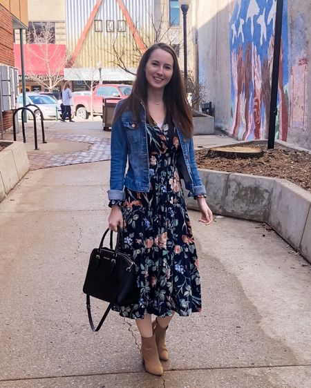http://liketk.it/39m3h #liketkit @liketoknow.it early spring outfits, modest outfits, long sleeve dress, spring dress