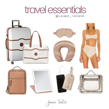 Travel Essentials! Check em' out. | #traveloutfits #travelessentials #musthaves #bestsellers #vacationessentials #vacationoutfits #luggageset #travelorganization #vacationclothing #JaimieTucker  #LTKtravel #LTKstyletip #LTKswim