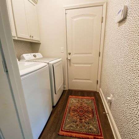 Laundry Room Update using Peel and Stick Wallpaper.  #LTKunder50 #LTKhome #StayHomeWithLTK