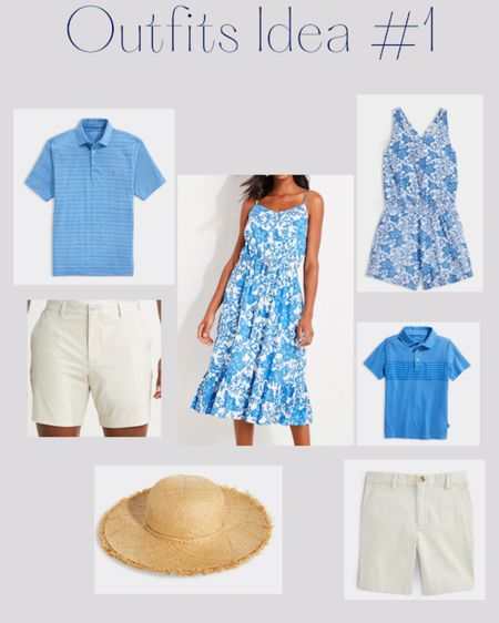 Light blue matching family outfits for Fourth of July http://liketk.it/3iOut #liketkit @liketoknow.it #LTKfamily