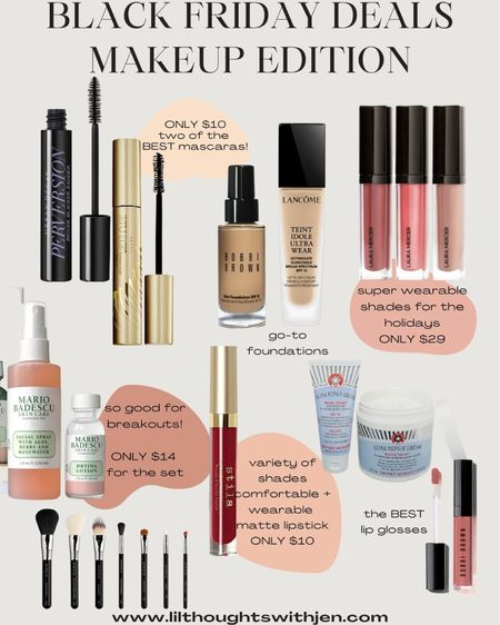 Black Friday & cyber Monday makeup deals  I've used every single one of these products and think they're worth every penny, especially on sale! http://liketk.it/32kA9 #liketkit @liketoknow.it #LTKunder50 #LTKsalealert #LTKgiftspo
