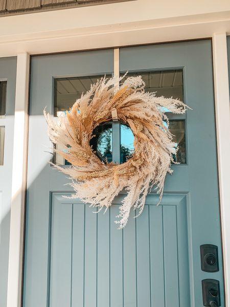 Fall decor. Fall wreath. Autumn decor. Front porch decor. Fall decorations. Amazon home finds. Bohemian decor. Wheat wreath. Straw wreath.   #LTKhome #LTKSeasonal