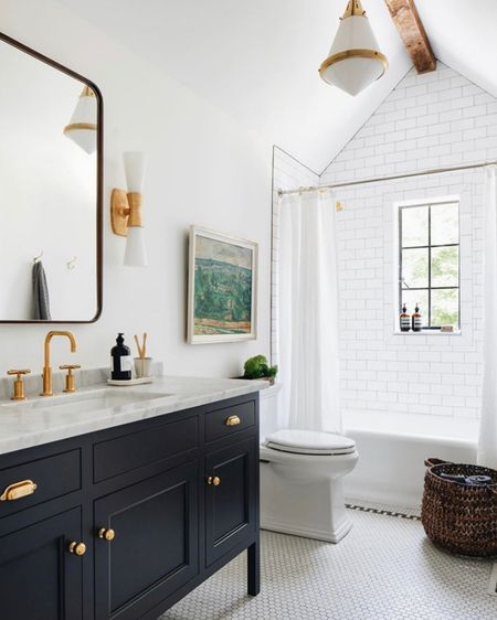 This bathroom by @jeanstofferdesign is gorgeous! . . .  http://liketk.it/2WH1I #liketkit @liketoknow.it  #bathroomstyle #interiorgoals #houseenvy #luxuryhomes #customehomes #homedesign  #interiorinspirations #shower #bathroom #tiling #tilingideas #tilinginspiration #bathroomdesign #bathroominspo #interiorimprovements #alicelaneinteriordesign #home #interiordesign #athome
