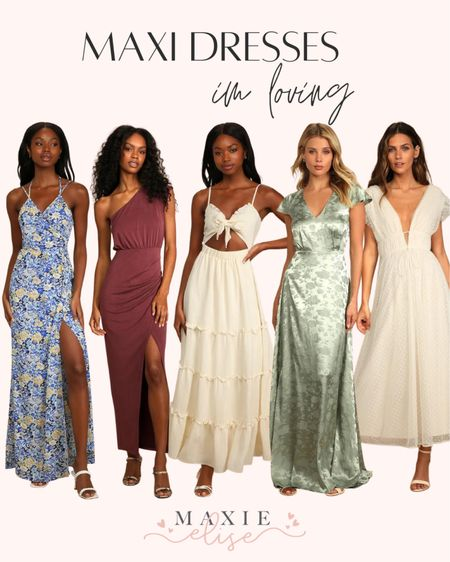 Maxi Dresses I'm Loving 🙌🏼  #maxidresses #lulus #summerdress #maxidress #lulusdress #summerfashion #whitedress #affordablefashion  #LTKunder100 #LTKstyletip #LTKSeasonal
