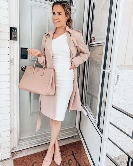 The shoes and dress are only similar. Go to my amazon link for exact dress. Bag and coat are exact though I have the large prada not the medium I believe :)  @liketoknow.it #liketkit http://liketk.it/2W1kZ