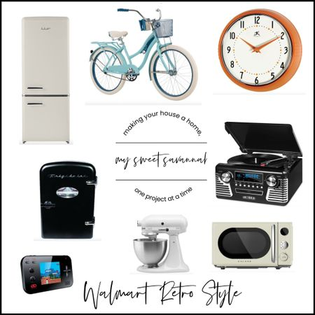 #ad#WalmartHome has some of the best retro gift ideas! I would LOVE this large fridge. Our teenage son has the mini fridge in his room. Shop Walmart for great gifts for the whole family!  #LTKGiftGuide #LTKhome #LTKHoliday