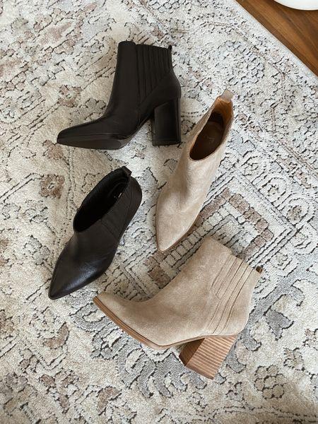 Marc fisher Alva suede boots and black leather boots - fit tts   #LTKshoecrush