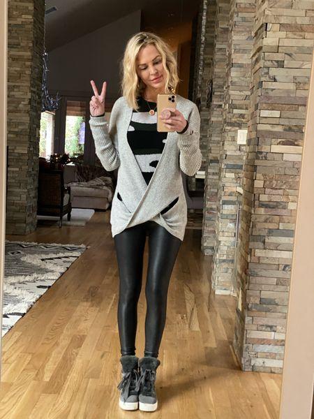 ✌🏻 Winter Uniform = leggings + sweater   http://liketk.it/3337e #liketkit @liketoknow.it #LTKstyletip #LTKshoecrush #LTKsalealert