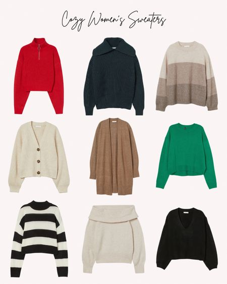 Women's sweaters, cozy, fall, winter, cardigan, pullover, knit   Follow me for more ideas and sales.   Double tap this post to save it for later    #LTKunder50 #LTKSeasonal #LTKstyletip